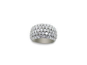 14k white gold ring with 3.00ct of diamonds