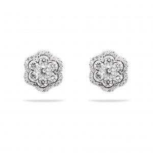14k white gold earrings with 1.35ct of diamonds